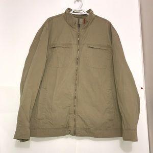 GAP Camel Tan Zip Up Lightweight Fabric Jacket
